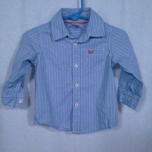 Carters boys shirt 9M Blue LS dress shirt Stripe